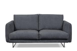 MINO, https://konsimo.pl/kolekcja/mino/ Komfortowa sofa 2 osobowa do salonu na metalowym stelażu szary antracytowy - zdjęcie