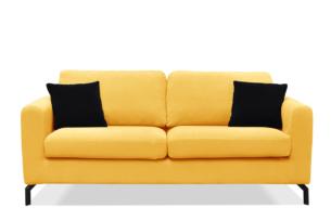 KAPI, https://konsimo.pl/kolekcja/kapi/ Kanapa ze zdejmowanym pokrowcem żółta żółty - zdjęcie