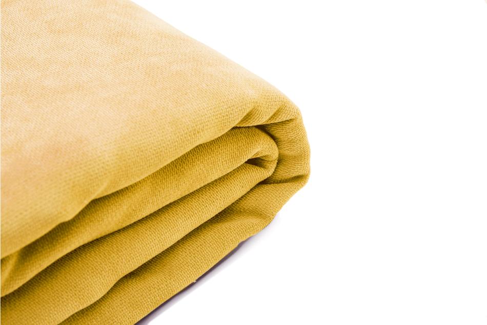 KAPI Kanapa ze zdejmowanym pokrowcem żółta żółty - zdjęcie 6