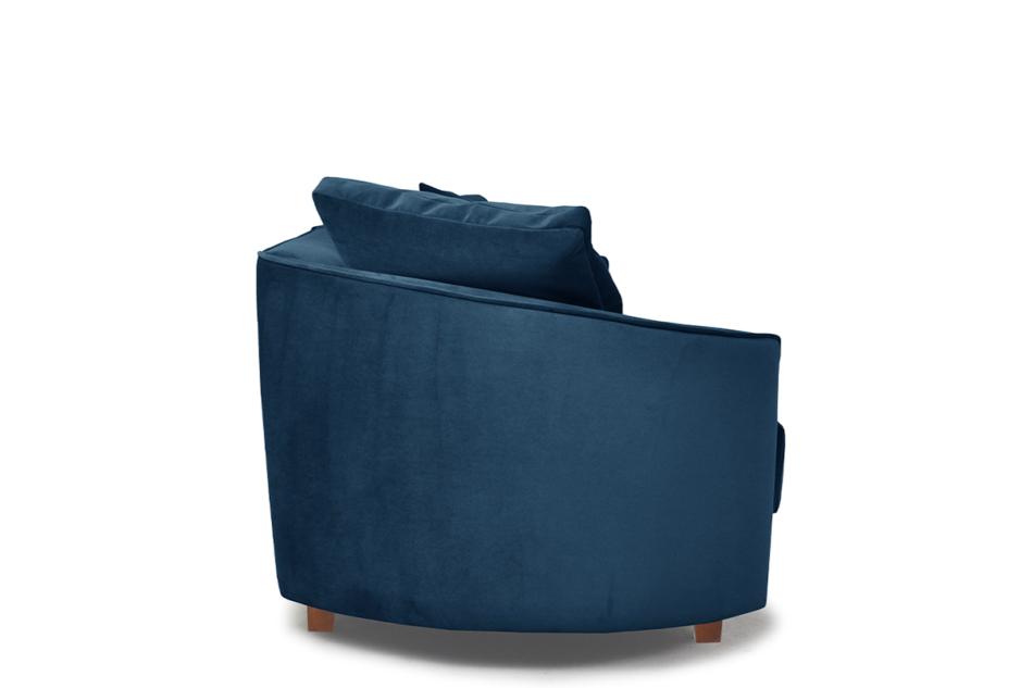 JUNI Duża sofa welurowa na drewnianych nóżkach granatowa granatowy - zdjęcie 2