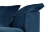 JUNI Duża sofa welurowa na drewnianych nóżkach granatowa granatowy - zdjęcie 5