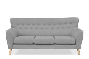 NEBRIS, https://konsimo.pl/kolekcja/nebris/ Skandynawska sofa na nóżkach 3 osobowa szara szary - zdjęcie