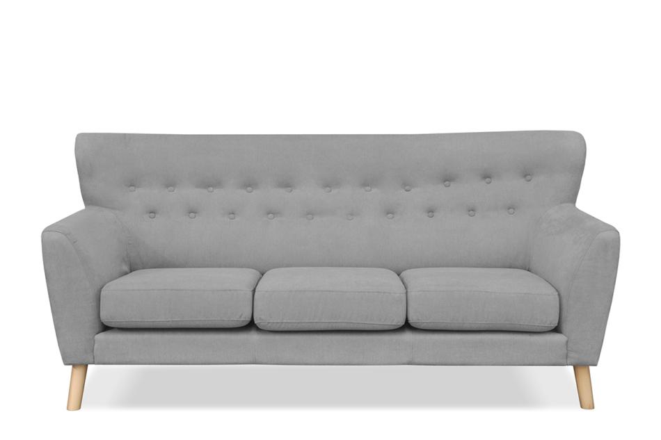 NEBRIS Skandynawska sofa na nóżkach 3 osobowa szara szary - zdjęcie 0