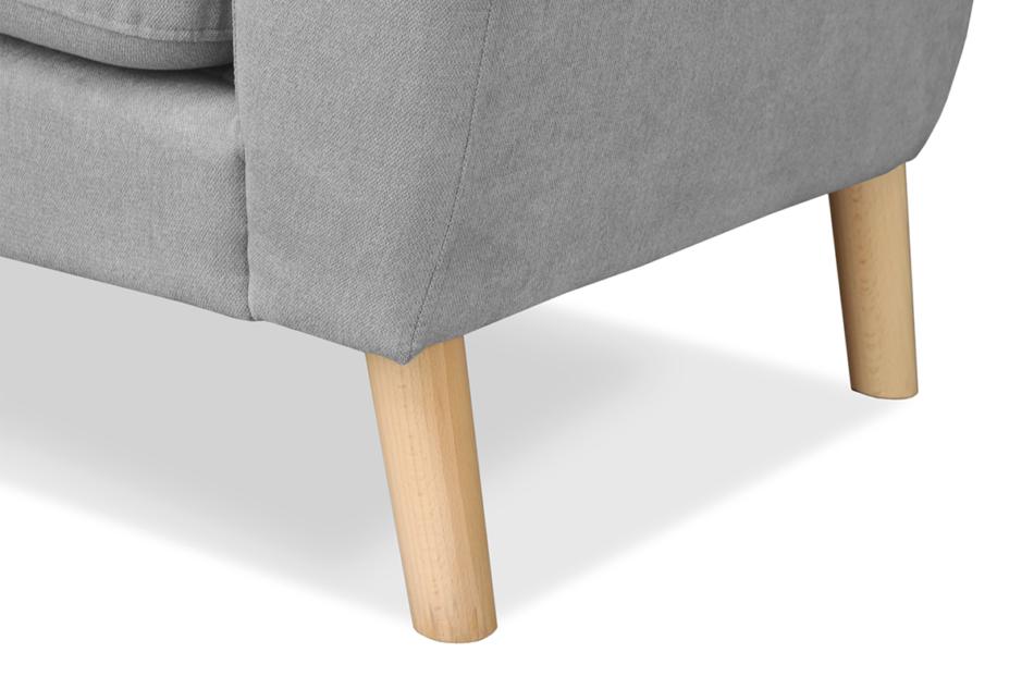 NEBRIS Skandynawska sofa na nóżkach 3 osobowa szara szary - zdjęcie 4