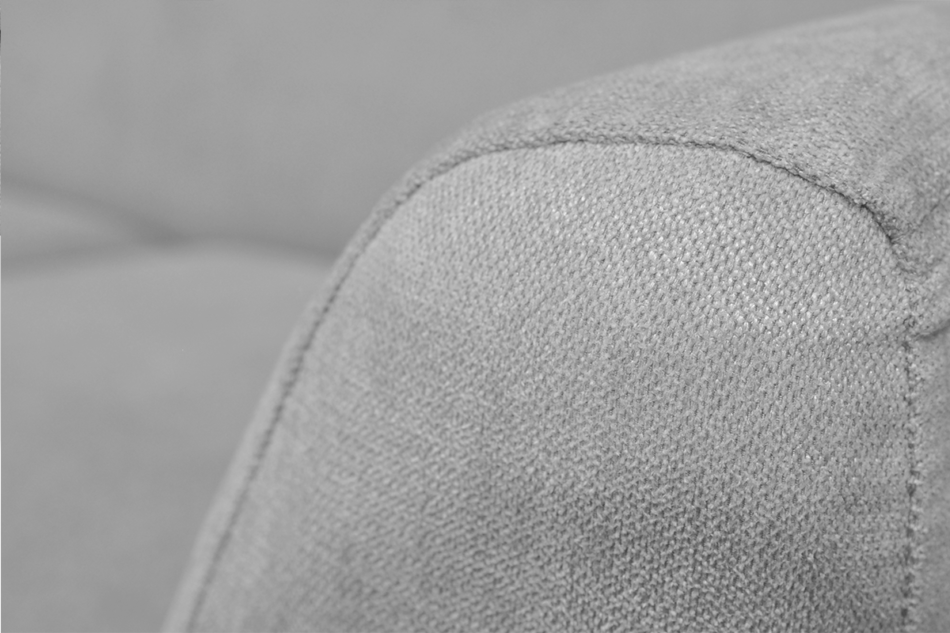 NEBRIS Skandynawska sofa na nóżkach 3 osobowa szara szary - zdjęcie 3