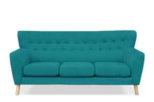 NEBRIS, https://konsimo.pl/kolekcja/nebris/ Skandynawska sofa na nóżkach 3 osobowa turkusowa turkusowy - zdjęcie
