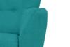 NEBRIS Skandynawska sofa na nóżkach 3 osobowa turkusowa turkusowy - zdjęcie 3