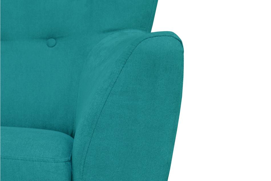 NEBRIS Skandynawska sofa na nóżkach 3 osobowa turkusowa turkusowy - zdjęcie 2