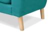 NEBRIS Skandynawska sofa na nóżkach 3 osobowa turkusowa turkusowy - zdjęcie 5