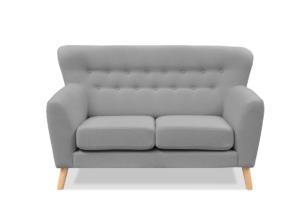 NEBRIS, https://konsimo.pl/kolekcja/nebris/ Skandynawska sofa na nóżkach dwuosobowa szara szary - zdjęcie