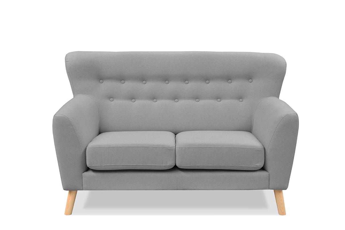 Skandynawska sofa na nóżkach dwuosobowa szara