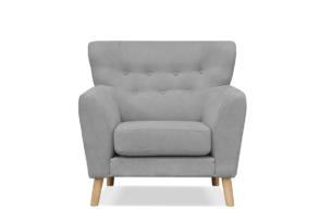 NEBRIS, https://konsimo.pl/kolekcja/nebris/ Skandynawski fotel na nóżkach szary szary - zdjęcie