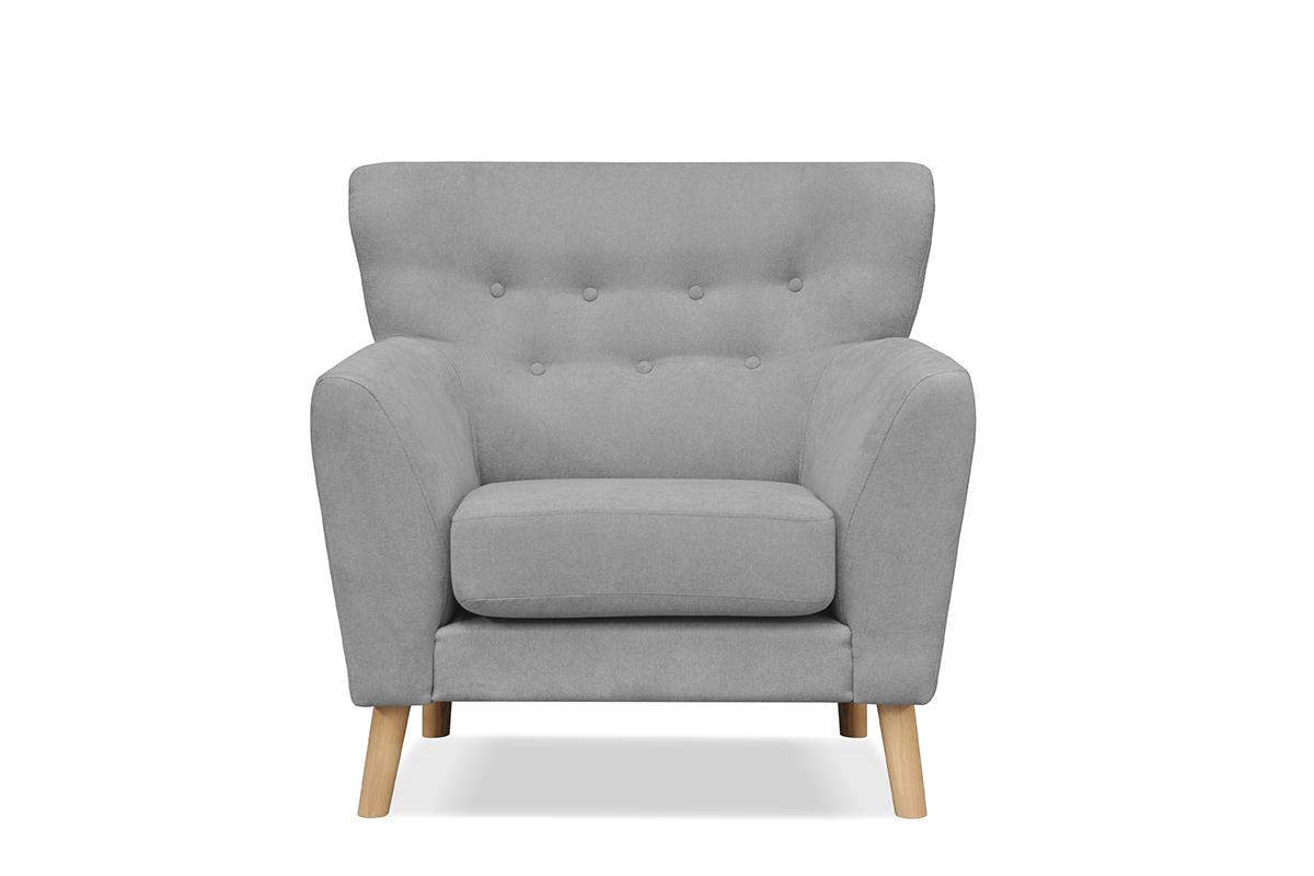 Skandynawski fotel na nóżkach szary