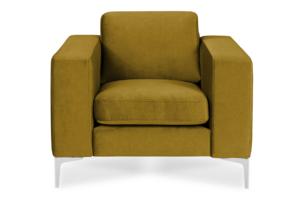 TOSKANIA, https://konsimo.pl/kolekcja/toskania/ Wygodny fotel pastelowy musztardowy żółty żółty - zdjęcie
