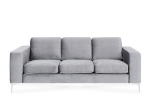 TOSKANIA, https://konsimo.pl/kolekcja/toskania/ Wygodna sofa 3 osobowa klasyczny szary szary - zdjęcie