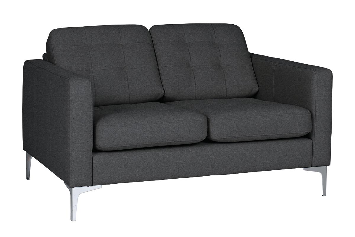 Nowoczesna sofa 2 osobowa do salonu szara