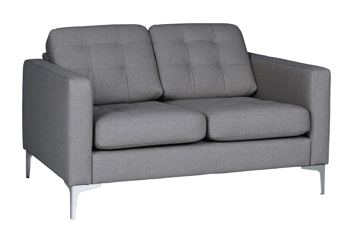 Nowoczesna sofa 2 osobowa do salonu jasnoszara