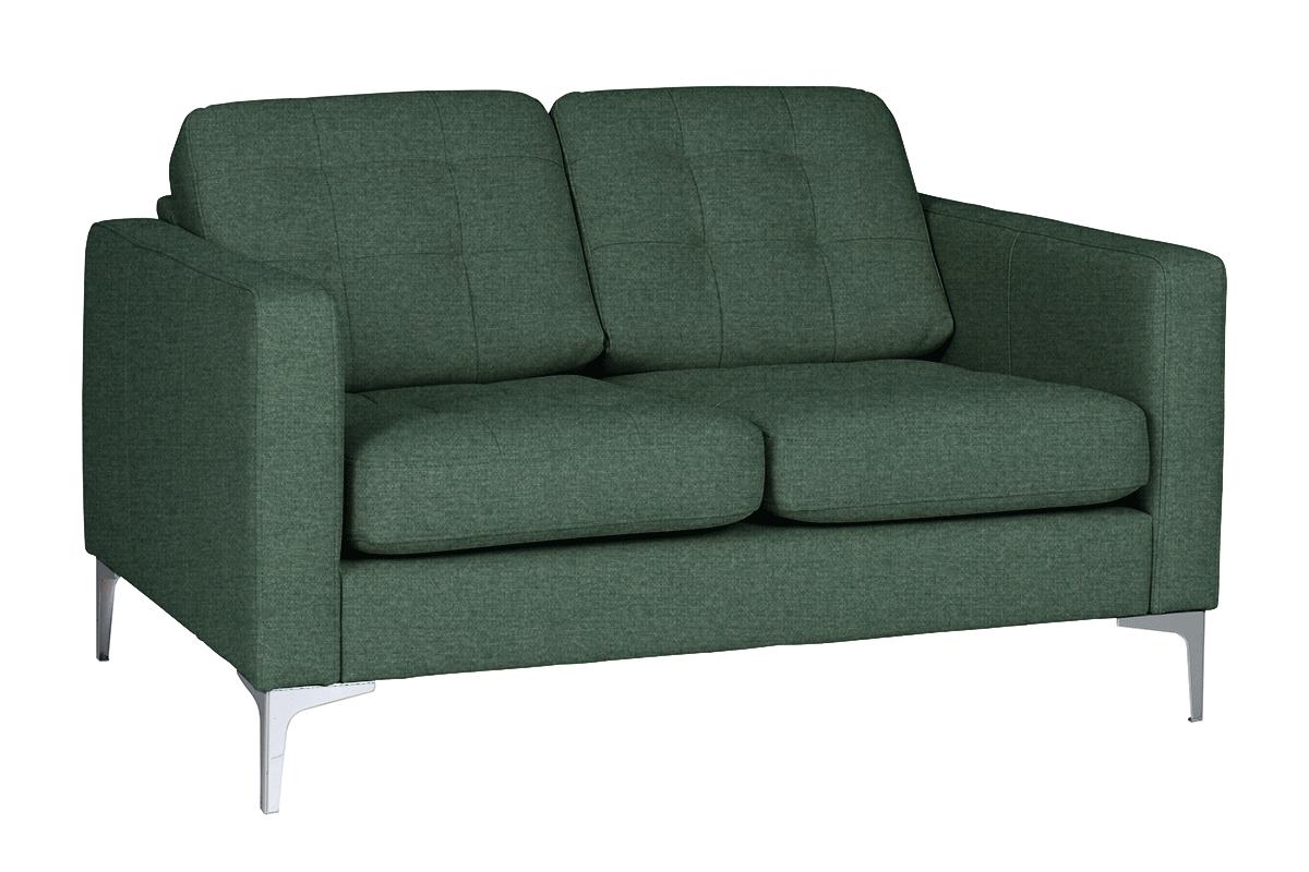 Nowoczesna sofa 2 osobowa do salonu zielona
