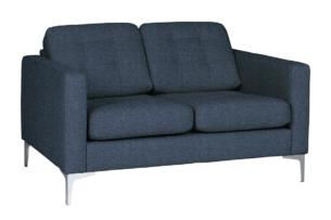 PORTOFINO, https://konsimo.pl/kolekcja/portofino/ Nowoczesna sofa 2 osobowa do salonu granatowa niebieski - zdjęcie