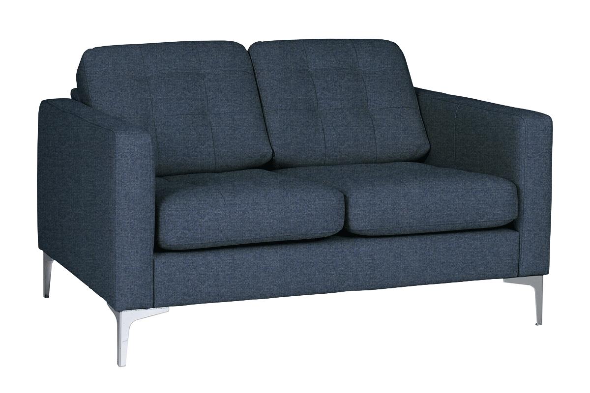 Nowoczesna sofa 2 osobowa do salonu granatowa