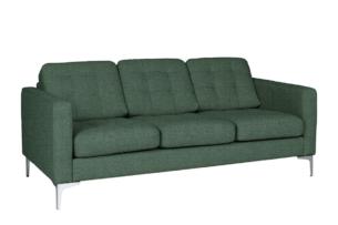 PORTOFINO, https://konsimo.pl/kolekcja/portofino/ Nowoczesna sofa 3 osobowa do salonu zielona zielony - zdjęcie