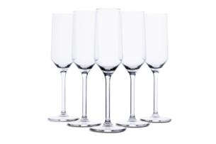 GRAVEO, https://konsimo.pl/kolekcja/graveo/ Zestaw kieliszków do szampana (6szt.) przezroczysty - zdjęcie