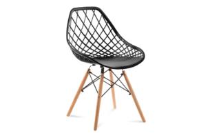 FAGIS, https://konsimo.pl/kolekcja/fagis/ Designerskie krzesło z tworzywa sztucznego czarne czarny - zdjęcie