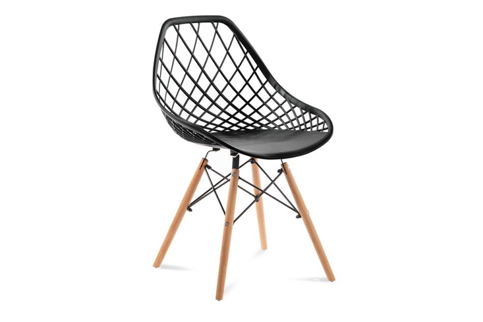 FAGIS Designerskie krzesło z tworzywa sztucznego czarne czarny - zdjęcie 0
