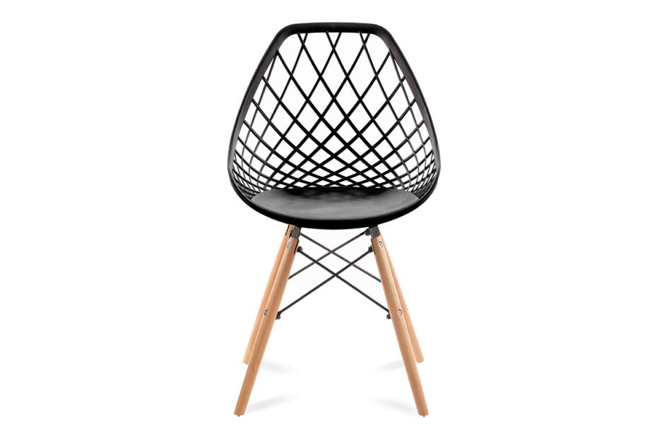FAGIS Designerskie krzesło z tworzywa sztucznego czarne czarny - zdjęcie 1