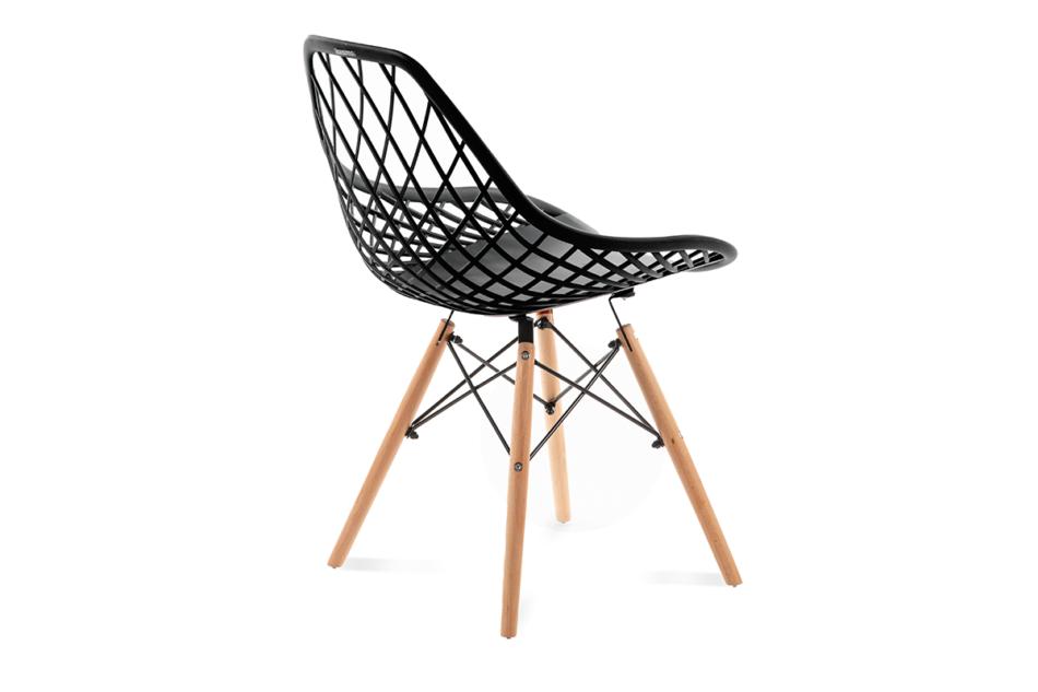 FAGIS Designerskie krzesło z tworzywa sztucznego czarne czarny - zdjęcie 2