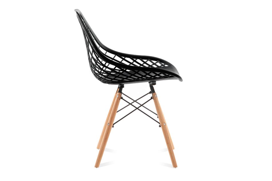 FAGIS Designerskie krzesło z tworzywa sztucznego czarne czarny - zdjęcie 3