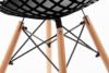 FAGIS Designerskie krzesło z tworzywa sztucznego czarne czarny - zdjęcie 5