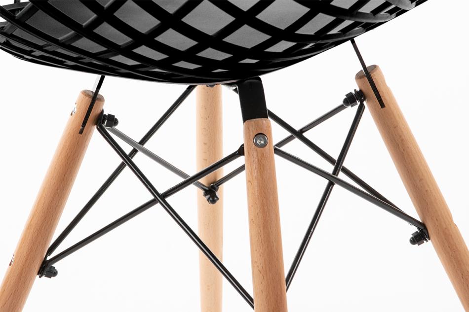 FAGIS Designerskie krzesło z tworzywa sztucznego czarne czarny - zdjęcie 4