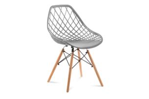 FAGIS, https://konsimo.pl/kolekcja/fagis/ Designerskie krzesło z tworzywa sztucznego szare szary - zdjęcie