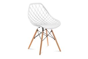 FAGIS, https://konsimo.pl/kolekcja/fagis/ Designerskie krzesło z tworzywa sztucznego białe biały - zdjęcie