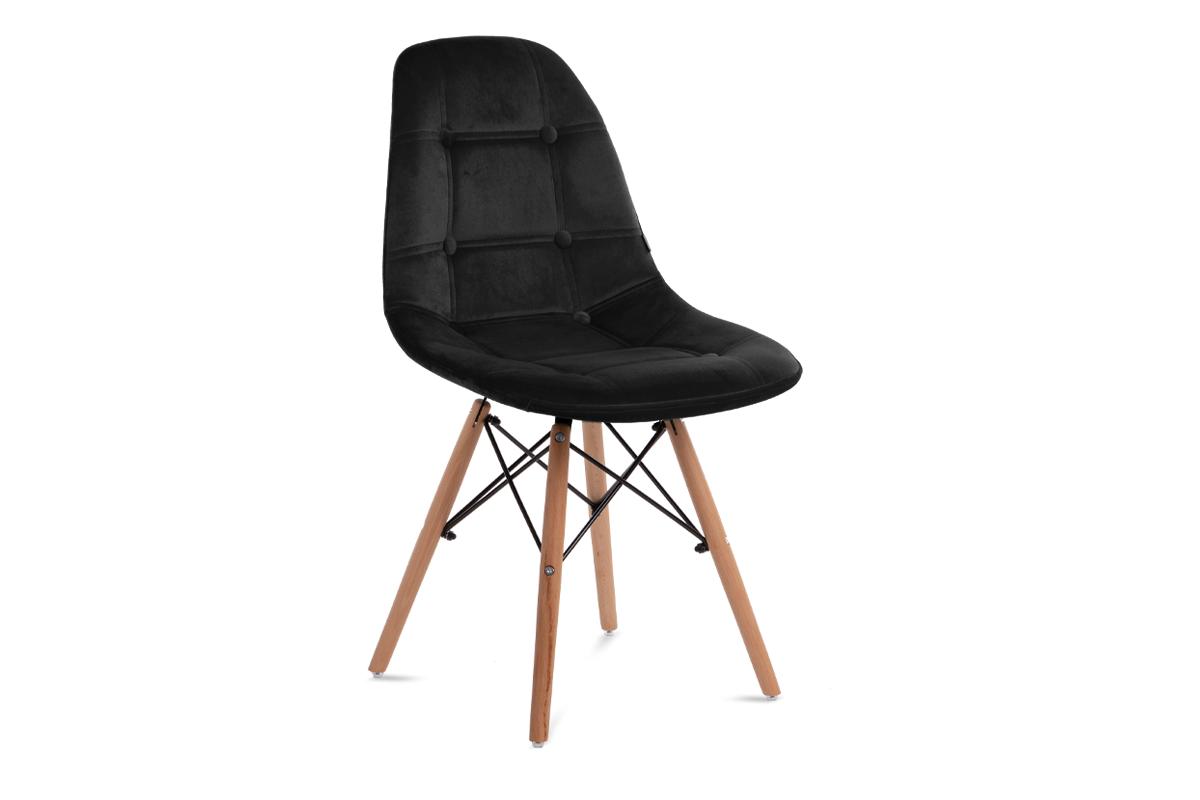 Nowoczesne krzesło welurowe ciemnoszare