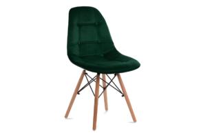 MICO, https://konsimo.pl/kolekcja/mico/ Nowoczesne krzesło welurowe butelkowa zieleń ciemny zielony - zdjęcie