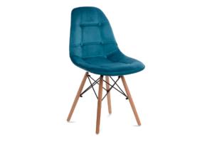 MICO, https://konsimo.pl/kolekcja/mico/ Nowoczesne krzesło welurowe turkusowe turkusowy - zdjęcie