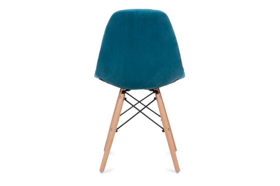 MICO Nowoczesne krzesło welurowe turkusowe turkusowy - zdjęcie 5