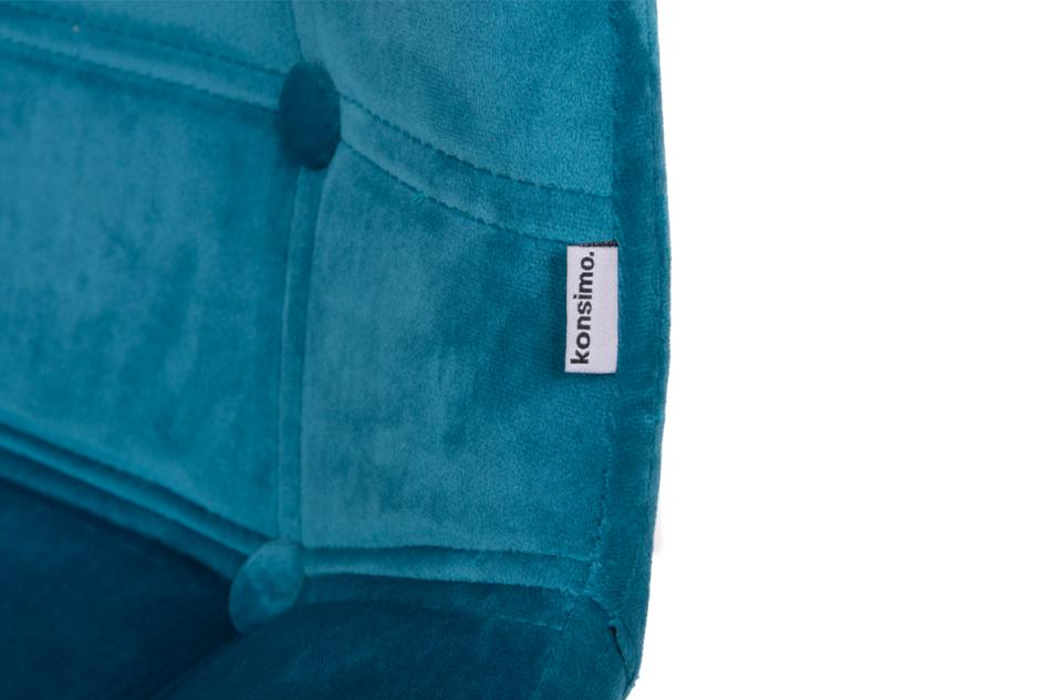MICO Nowoczesne krzesło welurowe turkusowe turkusowy - zdjęcie 6