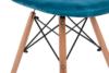 MICO Nowoczesne krzesło welurowe turkusowe turkusowy - zdjęcie 8
