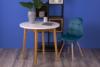 MICO Nowoczesne krzesło welurowe turkusowe turkusowy - zdjęcie 2