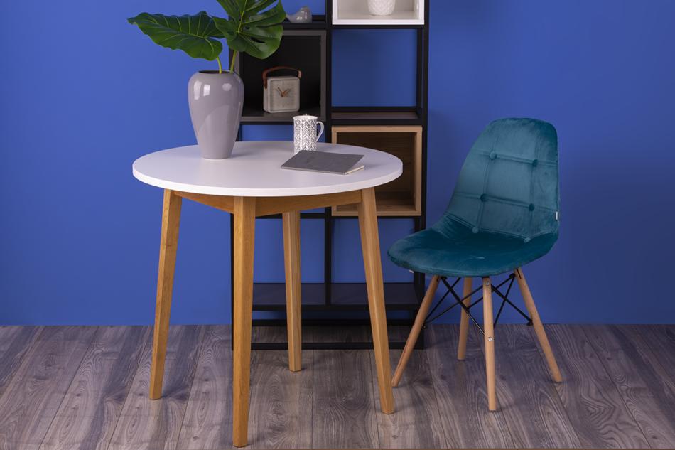 MICO Nowoczesne krzesło welurowe turkusowe turkusowy - zdjęcie 1