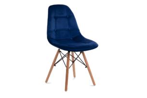 MICO, https://konsimo.pl/kolekcja/mico/ Nowoczesne krzesło welurowe granatowe granatowy - zdjęcie