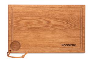 POENI, https://konsimo.pl/kolekcja/poeni/ Deska do krojenia dąb olejowany - zdjęcie