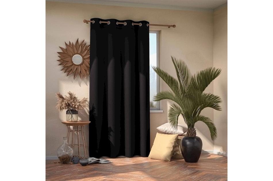 BLACKOUT Zasłona na przelotkach czarny - zdjęcie 1
