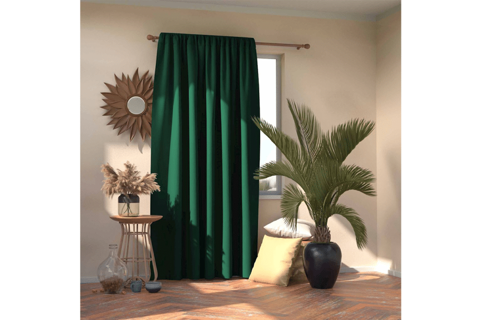 BLACKOUT Zasłona ciemny zielony - zdjęcie 1