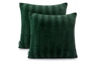 NANCY, https://konsimo.pl/kolekcja/nancy/ Poszewka na poduszkę (2szt.) ciemny zielony - zdjęcie