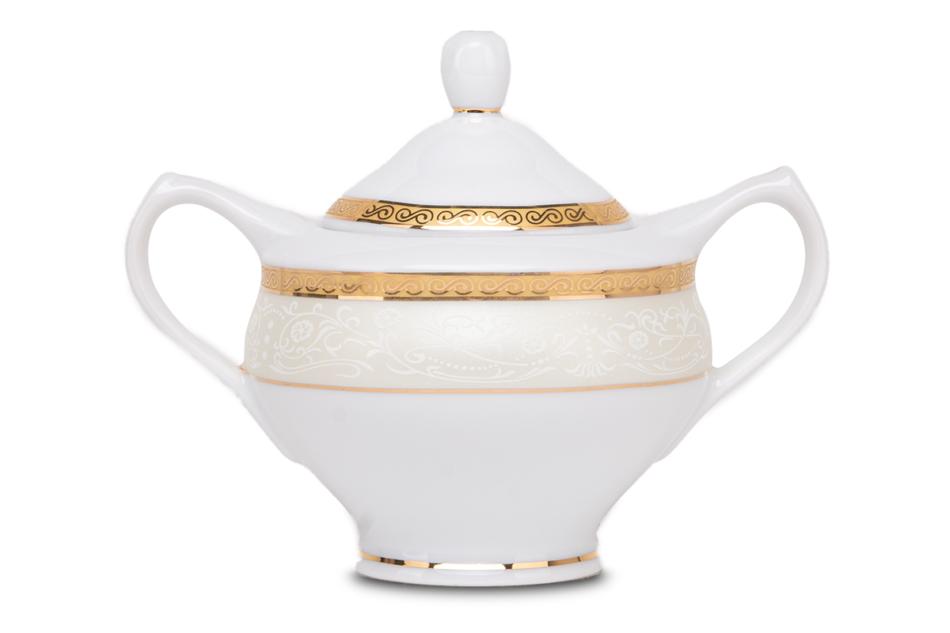 AGAWA GOLD Serwis herbaciany polska porcelana 15 elementów biały / złoty wzór dla 6 os. Gold - zdjęcie 2