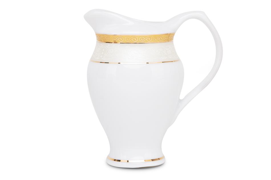 AGAWA GOLD Serwis herbaciany polska porcelana 15 elementów biały / złoty wzór dla 6 os. Gold - zdjęcie 4